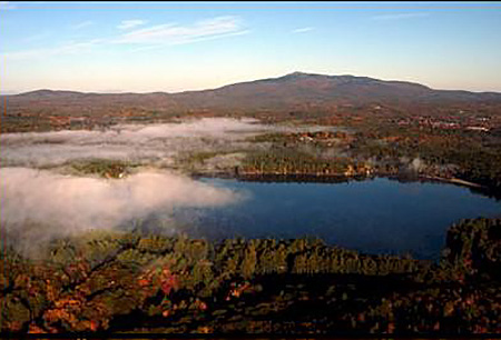 Mt. Monadnock from the South. Fall. Aerial Photo by Deb Porter-Hayes (N.E.A.P.).