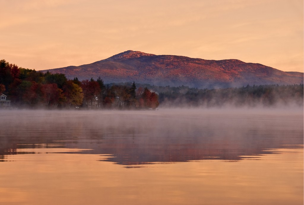 Sunrise on Pearly Pond. Photo by Gordon Ripley