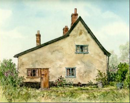 Peanut Cottage / Painting by Mike Webb