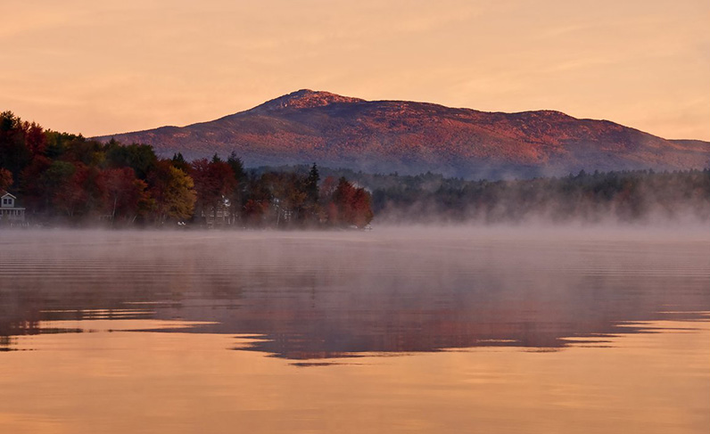 Fall Sunrise on Pearly Pond - Close up Photo