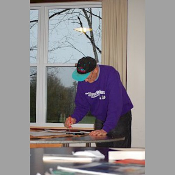 Gord Elliot working on his renga.
