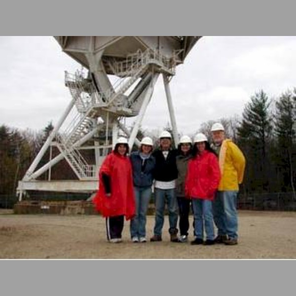Sheila Ward, Carin Plante, Rodger Martin, Heather Dupont, Kat O'Connor, and Jim Beschta after a tour of the telescope.