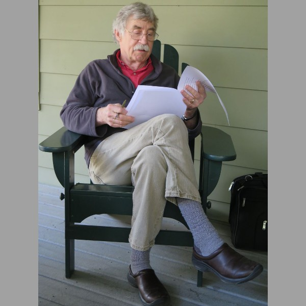 2015 Retreat: Denny reviewing poems