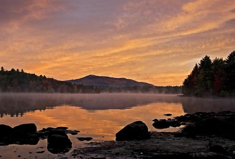 Sunrise on Pearly Pond Photo