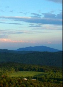 Mt. Monadnock from Pitcher Mountain  by Fred Shirley