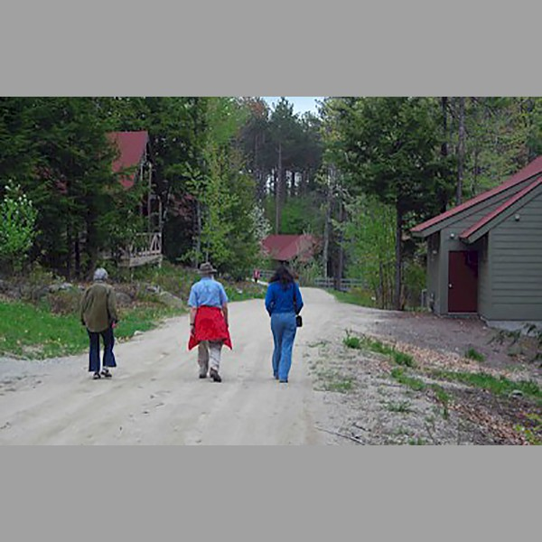 Dorothy Anderson,  Dan Lewis and Linda Warren Off on a Hike