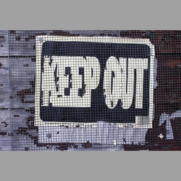 Abandoned House Sign