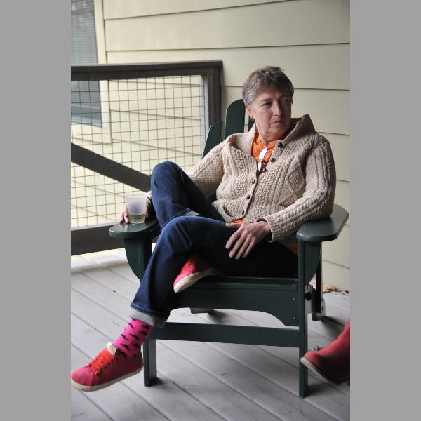 Clair Degutis Relaxing On The Porch