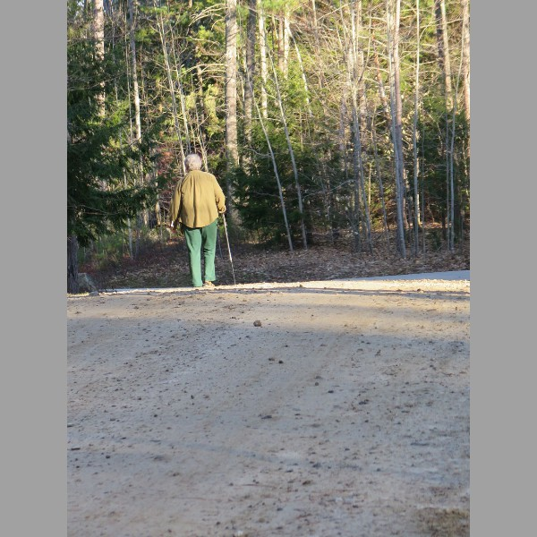 2015 Retreat: Dorothy on morning walk